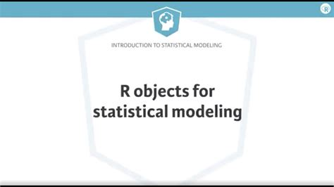 R Tutorial: R objects for statistical modeling - YouTube