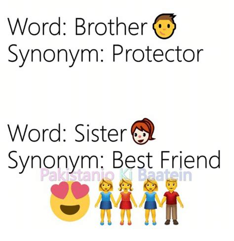 Word Brother Synonym Protector Word Sister Synonym Best