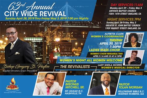BMU Oakland City Wide Revival 2019 – Faith in the Bay