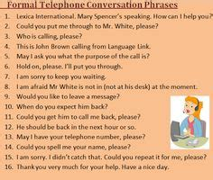 13 Best Telephone conversation images   English lessons