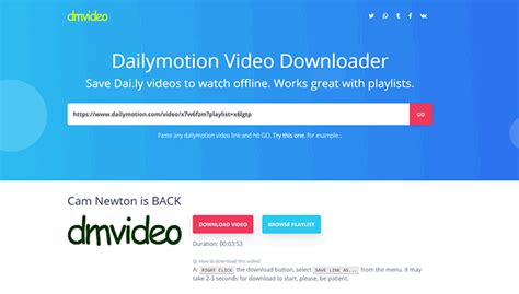 2021 Top Free Dailymotion Video Downloader Apps/Online Sites