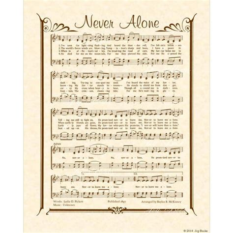 Items similar to NEVER ALONE 8x10 Antique Hymn Vintage