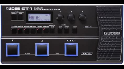 BOSS GT-1 PreAmps Config - YouTube