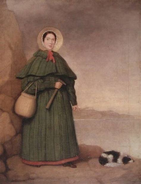 Mary Anning (1799-1847) - English School as art print or