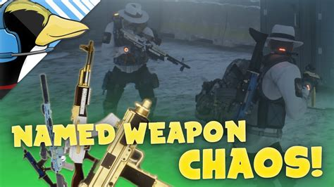 NAMED WEAPON CHAOS! - The Division Dark Zone Funny Moments