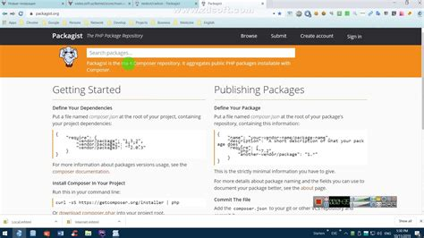 Install PHP Libraries from Packagist