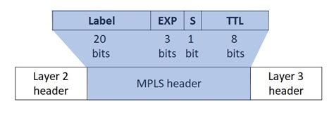 Segments in MPLS header: Label, EXP, S, and TTL