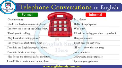 Telephone Conversations in English - English Study Here