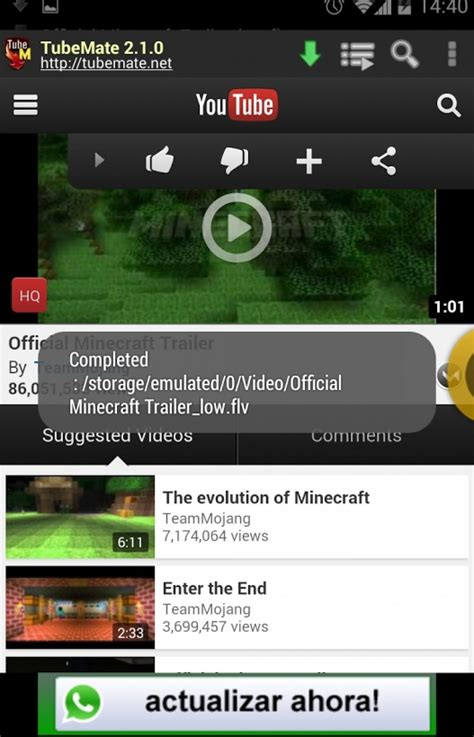YouTube Downloader Tubemate apk for Android mobile or