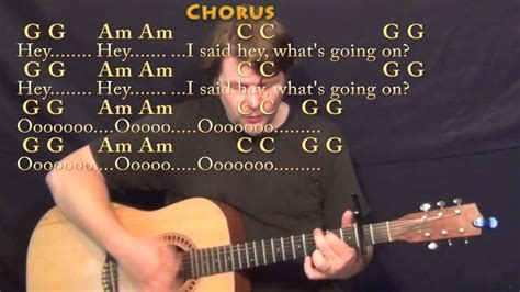 What's Up (4 NON BLONDES) Strum Guitar Cover Lesson with